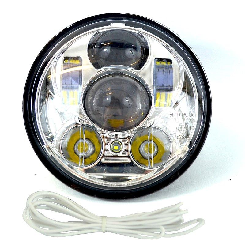 led scheinwerfer 5 3 4 zoll daymaker headlamp chrome 159 00. Black Bedroom Furniture Sets. Home Design Ideas