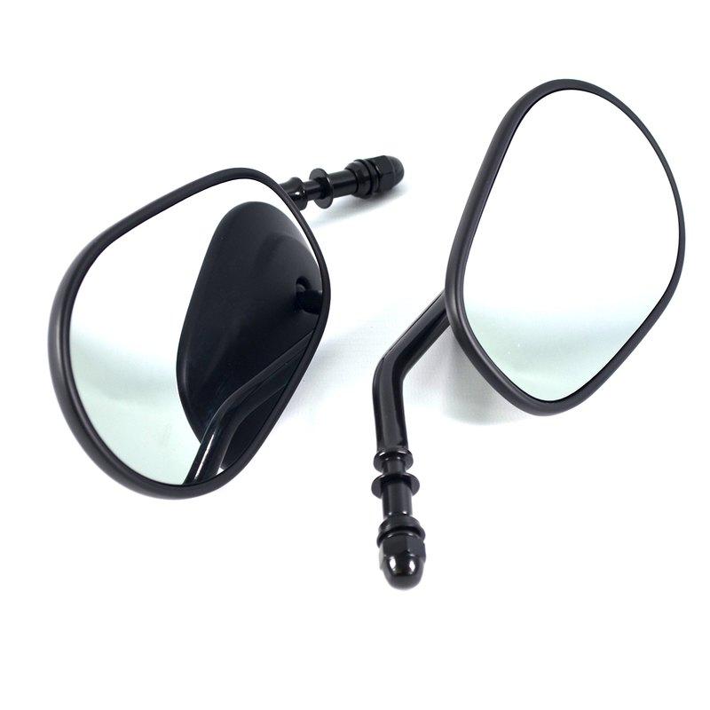 spiegel schwarz matt kurzer arm passend f r harley. Black Bedroom Furniture Sets. Home Design Ideas